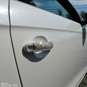 Custom CRYSTALLIZED Car Door Handle Covers Blinged with Swarovski Crystals - CRYSTALL!ZED by Bri
