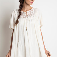 Woven Baby Doll Dress - Ivory