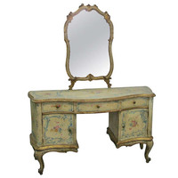 19th Century French Hand Painted Vanity
