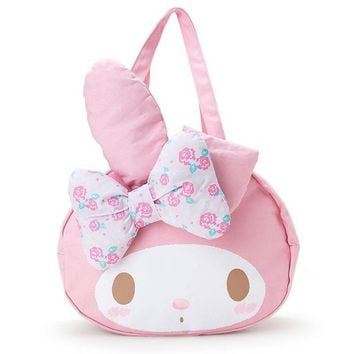 Big Cute Cartoon Fashion My melody Hello Kitty Cinnamoroll Dog Plush Backpack Large Shoulder Bag For Girls Women Birthday Gifts