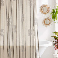 Imari Yarn-Dyed Shower Curtain   Urban Outfitters