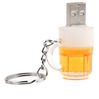 Beer Keychain Style USB Flash Disk with 32GB Memory