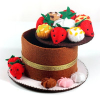 DIY Non-woven Handmade Cakes Mini Cloth Jewelry Box Material Kit Package Storage Boxes Free Cropped Brithday Lovely Gift
