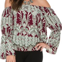 SWELL GROOVY OFF SHOULDER BELL SLEEVE TOP