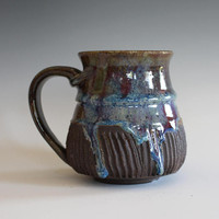 DISCOUNTED Mug, 14 oz, handthrown ceramic mug, stoneware pottery mug, unique coffee mug