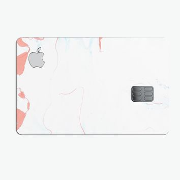 Marbleized Coral and Mint v1 - Premium Protective Decal Skin-Kit for the Apple Credit Card