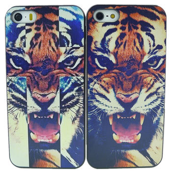 New Arrival Horrible Tiger Roar Quote Hard Case Back Cover For Apple i phone iPhone 4 4s 5 5G 5S Free Shipping