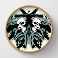 Never Look Back (black) Wall Clock by Gigglebox