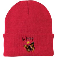 "ButButterfly Knit Cap - ""Be Yourself"""