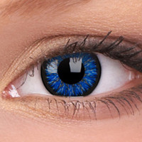 Glamour Blue Colour Contact Lenses, Glamour Blue Contacts | EyesBright.com