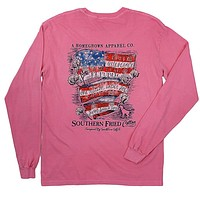 Southern Belle Pledge Long Sleeve in Crunchberry by Southern Fried Cotton