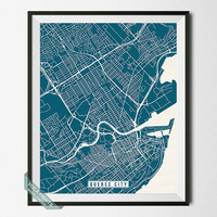 Quebec City Print, Canada Poster, Quebec City Poster, Quebec City Map, Canada Print, Canada Map, Quebec Map, Street Map, Wall Art