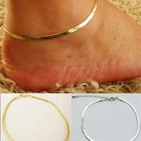 pc Women Girls Silver/Gold Chain Ankle Bracelet Anklet Foot Jewelry Beach = 5658255297