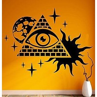 Wall Stickers Vinyl Decal Masons Pyramid and Eye Conspiracy Theory Unique Gift (z1102)