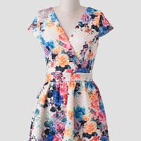 Whimsical Garden Quilted Dress