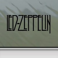 Led Zeppelin Black Sticker Decal Page Rock Band Black Car Window Wall Macbook Notebook Laptop Sticker Decal
