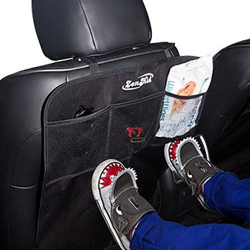 Car Kick Mats Seat Covers (2 Pack) By ZenKid - Universal Backseat Protectors For Your Car, Truck, SUV - Kids Vehicle Accessories For Back Seats Upholstery Protection
