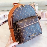LV Louis Vuitton New Fashion Women Leather Shoulder Bag Daypack Backpack