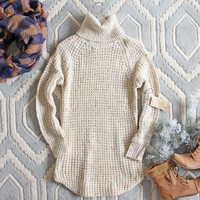 Marlow Knit Sweater Dress in Sand