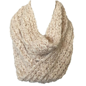 Cozy Nights Knit Infinity Scarf In Cream