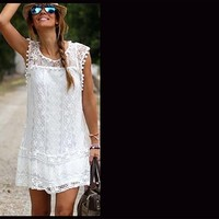:ove in Lace Summer Dress