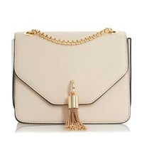 DUNE ACCESSORIES ELINA - Metal Tassel Detail Boxy Bag - cream | Dune Shoes Online