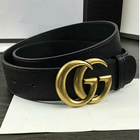 GUCCI Woman Fashion Smooth Buckle Belt Leather Belt