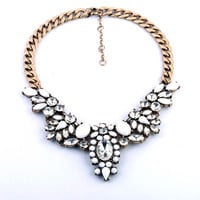 Crystal Encrusted Collar Necklace