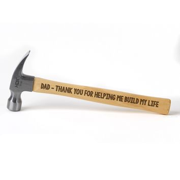 Father of the Bride Gift - Personalized Laser Engraved Hammer for Dad, Grandpa, Father of the Groom