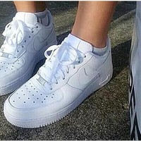 Tagre™ Women Men NIKE Running Sport Casual Shoes Sneakers Low help shoes Air force White
