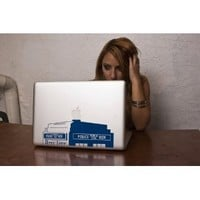 """Tardis Police Box Doctor Who Decal for 13"""" Macbook"""