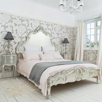 Sylvia Silver Bed|Beds|Beds & Mattresses|French Bedroom Company