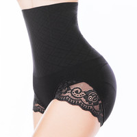 Sexy Butt Lifter Tummy Control Panties Waist Training Corset Women Body Shapers Lace Trim Belly Hip High Waist Trainer Shapewear