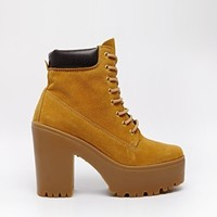 River Island Tan Irene Lace Up Ankle Boots at asos.com