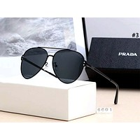 PRADA street fashion men and women models versatile driving polarized sunglasses #3