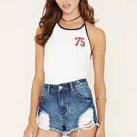 75 Graphic Halter Top | Forever 21 - 2000153244