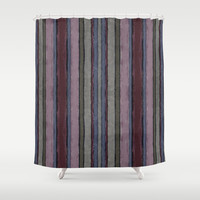 Baroque lines Shower Curtain by Tony Vazquez