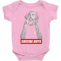 suicide boys Baby Onesuit