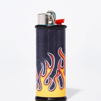 Old School Flames Bic Lighter Case