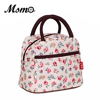 MSMO New Hot Variety Pattern Lunch Bag Lunchbox Women Handbag Waterproof Picnic Bag Lunchbox For Kids Adult 22 colors