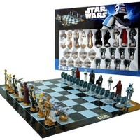 "Star Wars Chess Set / Chess Game Board with Star Wars Figurines Chess Pieces (Game Board Size 17"" x 17"")"