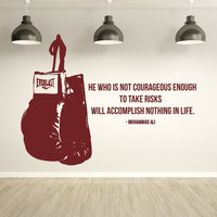 Muhammad Ali Famous He Who Is Not Courageous Quotes Wall Stickers Home Decor Decorate Living Room Bxing Sport Gym Decal Murals