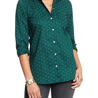 Women's Polka-Dot Button-Front Shirts