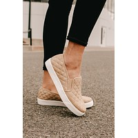 Hitting The Streets Slip On Sneakers (Taupe)