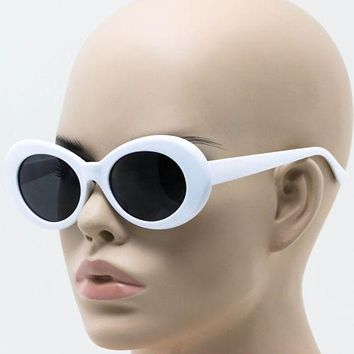 Clout Goggles Solid Frame Oval Mod Retro Vintage Rapper Hypebeast Cool Glasses