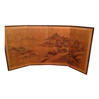 Pre-owned Japanese Four-Panel Screen