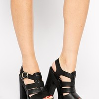 New Look | New Look Proddy Grunge Sole Heeled Sandals at ASOS
