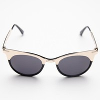 Free People Womens Veronica Sunglass - Gold, One Size