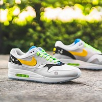 """Nike Air Max 1 """"Daisy Pack"""" Low-Top Flat Sneakers Shoes"""