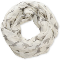 D&Y Ivory Dino Print Infinity Scarf